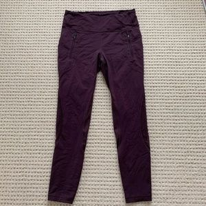 Lulu Lemon Burgundy/Purple leggings